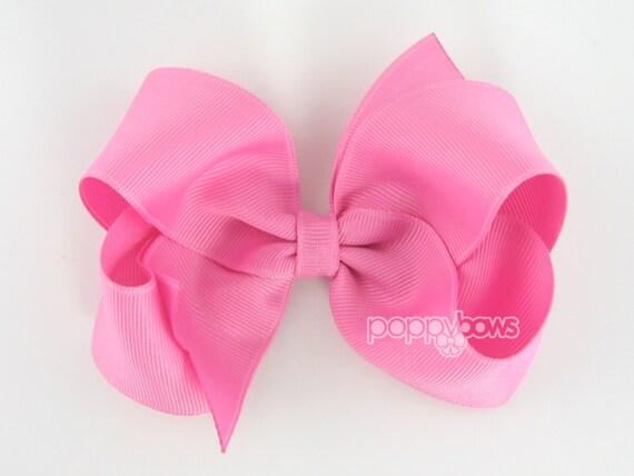 Girls Hair Bows, Pixie pink hair bow, 4 inch hair bows, big hair bows, boutique bows, large hair bows, girl hair bows, toddler hairbow