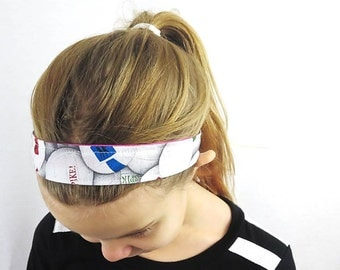 volleyball fabric headband for girls sports fashion accessory. reversible headband for girls. order in up to set of 16.