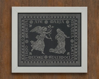 Ave Maria - Instant Download PDF Christmas Cross Stitch Embroidery Pattern