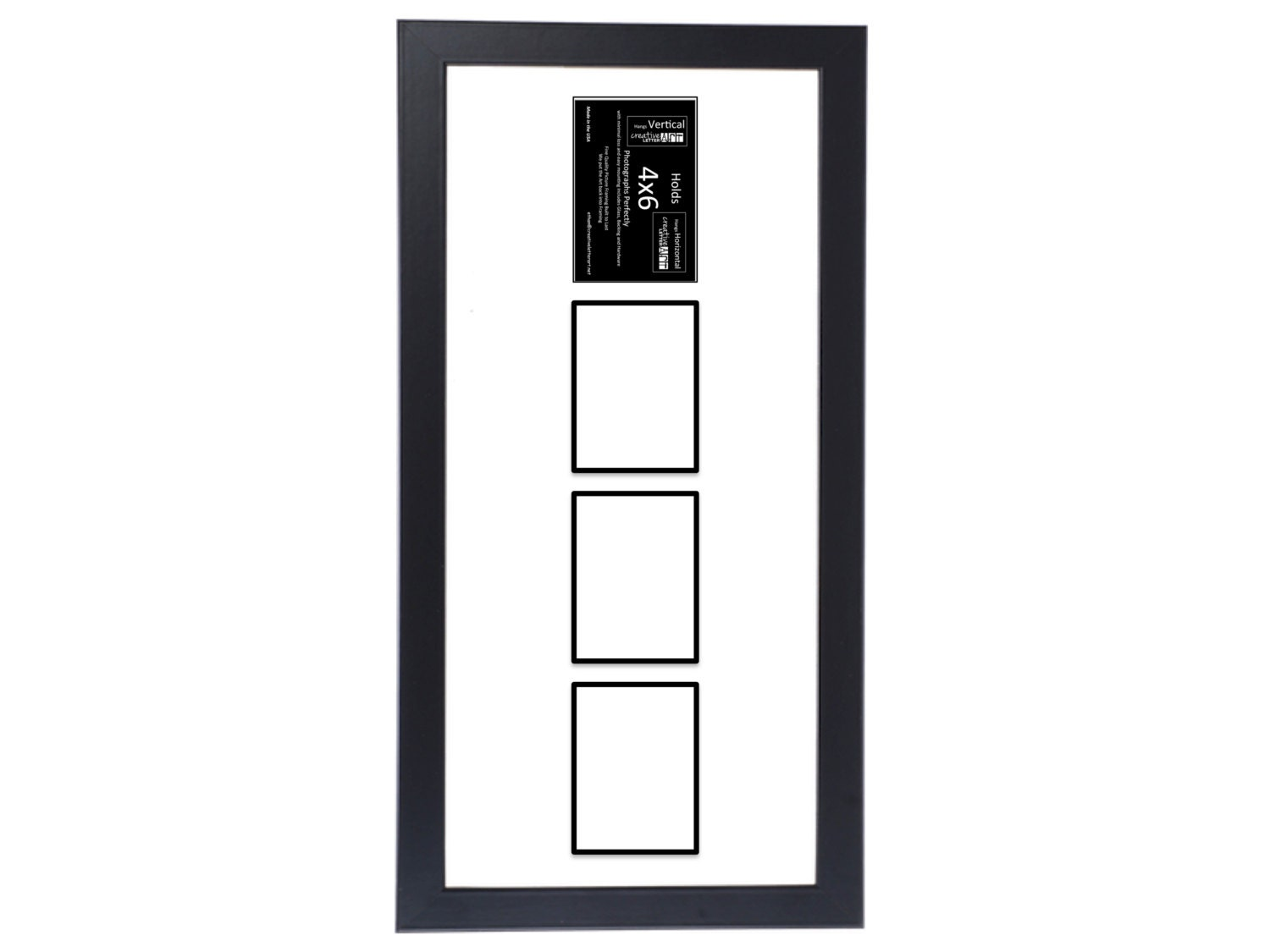 4x6 Vertical 3 4 5 6 7 8 Opening Black Picture Frame With