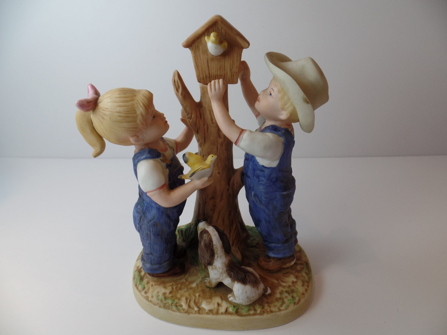 Vintage Figurine Homco Denim Days Our By Sallysvintagekitchen
