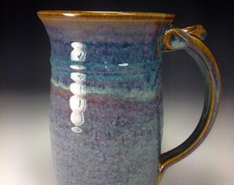 Sale Big blue beer mug beer tankard brew mug ale mug home brew gift groomsmen gift