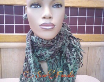 Instant Download PATTERN ONLY Easy Crochet Fringed Cowl and Infinity Scarf Pattern permission to sell finished products