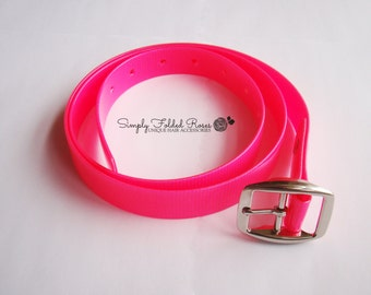 Fashion Belt - Neon Pink - custom sizing