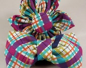 Dog Bow Tie or Flower - Jewel Biasplaid