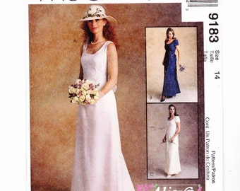 McCall's 9183 Bridal / Special Occasion Gown By Alicyn Size 14 Uncut Pattern- 3