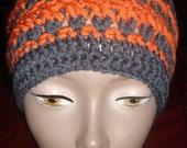Charcoal and Mango Crochet Hat