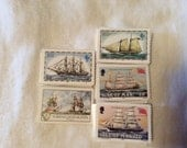 Lot of 25 Ship Replica Stamps Paper Supply