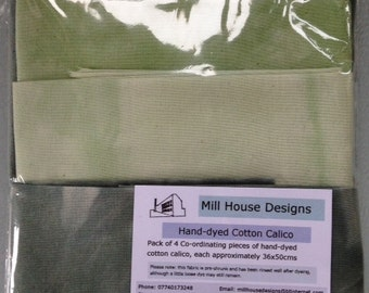 Hand-dyed cotton calico