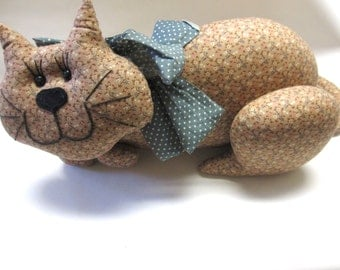 Cat Pillow Kitten Stuffed Toy Fabric