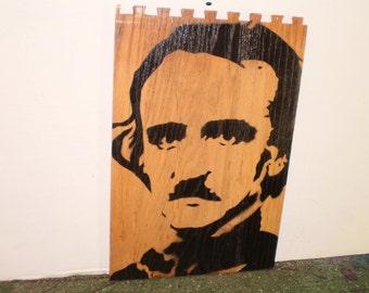 Edgar Allen Poe (wood)