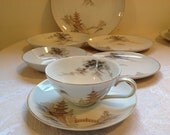 7 pc place setting Vintage Sone China Made in Japan pattern 1963 Kiyomizo