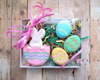 Easter Cookie Set - Easter Bunny Easter Egg - 4 Piece Gift Set