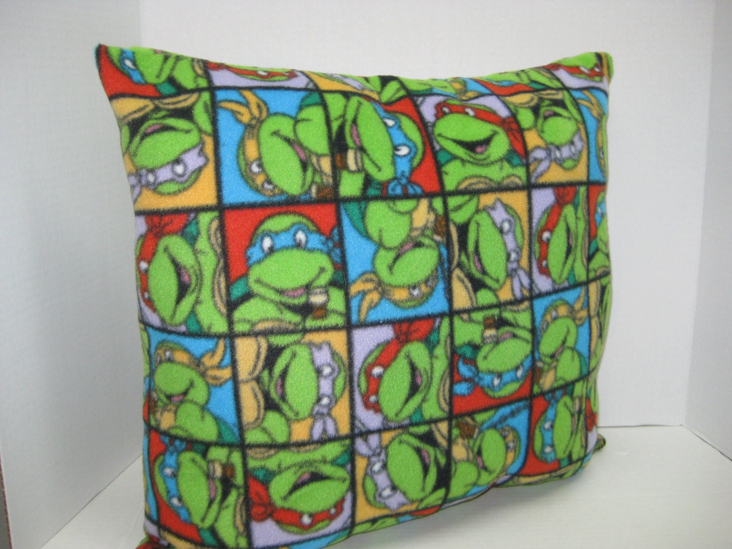 Ninja Turtle Decorative Pillow : Ninja Turtle Stuffed Throw Pillow by DSHANDMADECRAFTS on Etsy