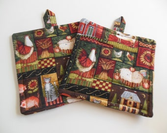 Country Quilted Potholders