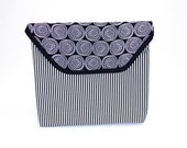 Walker Bag or Bicycle Bag with Black and White Stripes