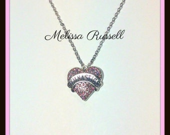 Heart Shaped Gymnastics charm with Rhinestones  handmade jewelry, pendant, gifts for her, birthday, mom, sister, girlfriend, wife, fiance