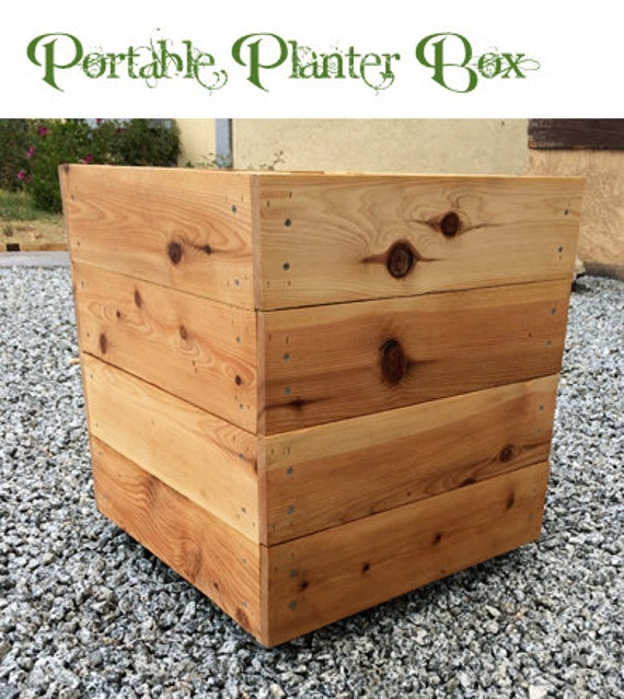 Portable Planter Box by Living Green Planters