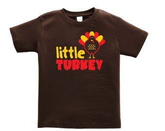 Personalized Thanksgiving shirt for kids - turkey holiday shirt - pick your colors!