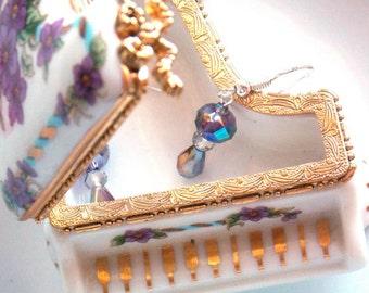 Purple Mists Crystal Earrings