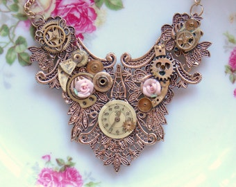 """Victorian Steampunk Necklace """"A Gilded Age"""""""