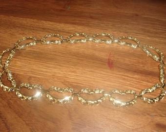 vintage necklace heavy goldtone