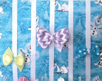 Hair Bow Holder Medium Olaf Padded Hair Bow Organizer with Hooks for Headbands