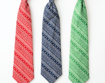 Little Boy Neckties - Red, Blue, or Green Diagonal Stripes - Boys Ties