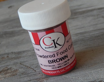 Powdered Food Color - Brown - 9 grams - dry food color - For Cake Decorating - Icing - Gumpaste - Fondant - CK Products