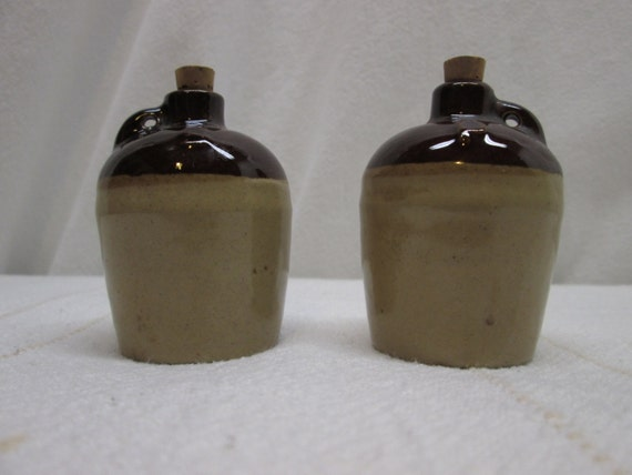 Salt And Pepper Shakers Little Brown Jug Moonshine By