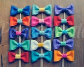6 Felt Bow Tie Props | Bow Photo Props | Carnival Props | Bow Prop | Bow On a stick | Circus Photo Props