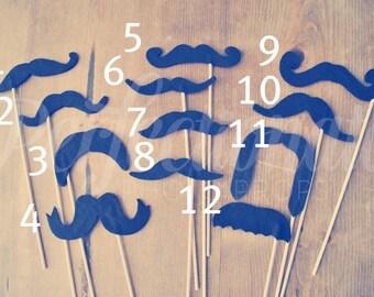 Choose 6 Felt Mustache Props | Choose Your Mustache Styles