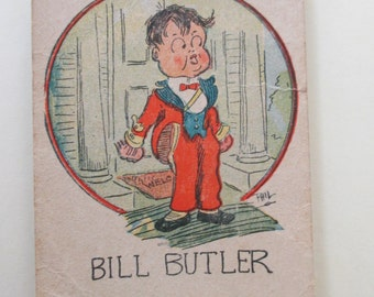 Antique Playing Card - Old Maid, Bill Butler, children, game