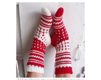 Crochet Socks Norwegian Style- Crochet Pattern - Instant Download Pdf