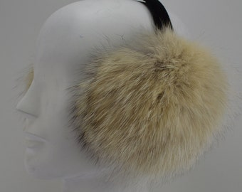 Coyote Fur Earmuffs made in usa new
