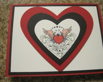 Vintage Sweetheart Tattoo Card
