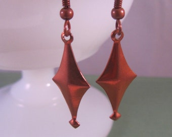 Copper Charm Dangle Earrings