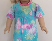 American Girl Doll Blue Butterfly Nightgown