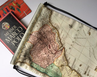 Knapsack, Map of South America, Photo Ships at Port, Backpack, CinchSack, Cartography, Sailing, Boats, Travel bag, South America, Cool, Hip