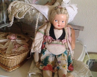 Vintage Beautiful Poland Jointed Doll
