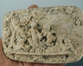 VICTORIAN cherub relief plaque  - grande tour - France - Italy cs