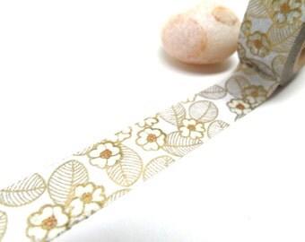 Gold Cherry Blossom Washi Tape