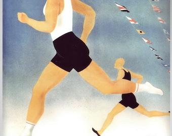 Sport in der UdSSR PROPAGANDA lntourist / propaganda, ussr, soviet union, Soviet, ussr poster, Soviet poster, soviet propaganda, 1936
