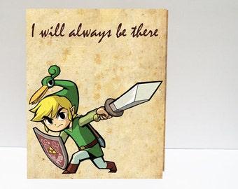 Zelda Valentine's Day card Printed Card