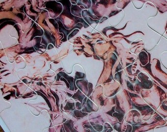 Puzzle  - Hobbit - Black Riders ascend -  Lord of the Rings - puzzle from original Batik Painting