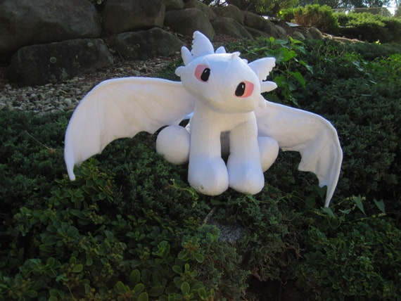 Plush Albino Toothless Night Fury from How To Train Your