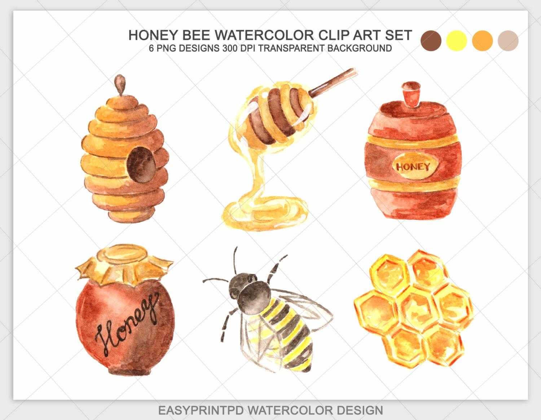 Honey clip art | Etsy