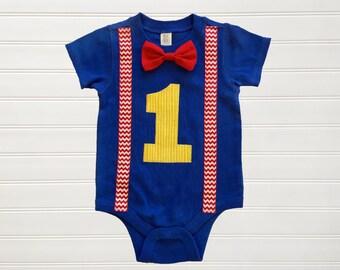 Boys Suspenders Onesie Boys Tops Bodysuit Boys Clothing Birthday Outfit Bow Tie Shirt Toddlers 6 12 18 24 mo Boys 2