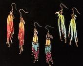 Colorful Dangling Seed Bead Earrings