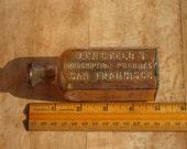 Antique 1800s LENGFELD'S Prescription Pharmacy, San Francisco Amber Medicine Bottle / Dug In San Francisco